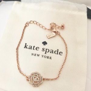 NEW Kate Spade Pave Rose Gold Rose Garden Bracelet